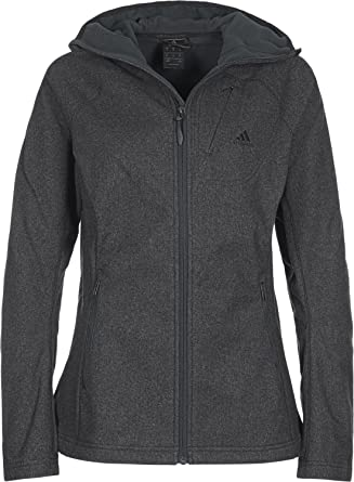 adidas Damen Performance Kapuzen Fleecejacke: